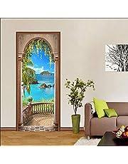 SJKstore 3D Deur stickers Zeezicht Deur muurschildering 77x200 cm Foto deur Verwijderbare Vinyl DIY Muur Deur Art Canvas Poster Print PVC deur behang