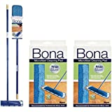 Bona Microfiber Floor Mop + Bona Microfiber Cleaning Pad 2 Pack