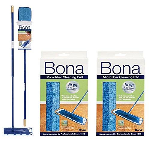 Bona Microfiber Floor Mop + Bona Microfiber Cleaning Pad 2 (Bona Mop)