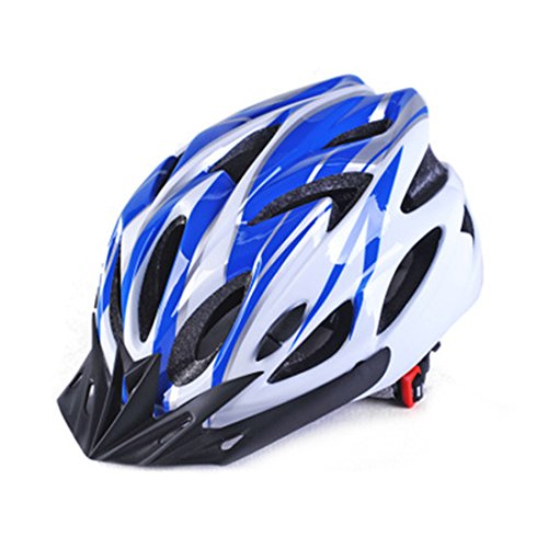 Harmony Life Adult Bike Helmet with 18 Vents Specialized for Men Women Safety Protection, Adjustable Head Circumference 22.4-24.4 inch (White Blue)
