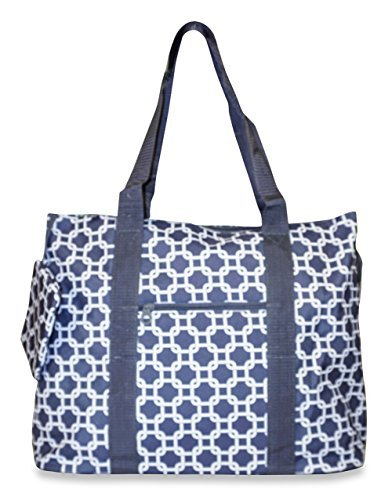 Ever Moda Chain Link Tote Bags X-large (Grey)