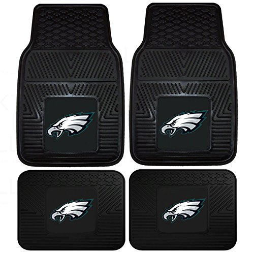 NFL Philadelphia Eagles Car Floor Mats Heavy Duty 4-Piece Vinyl - Front and Rear from Fanmats