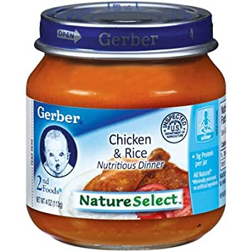 Gerber 2nd Foods Baby Food Chicken Rice Dinner 12 Pack Amazon
