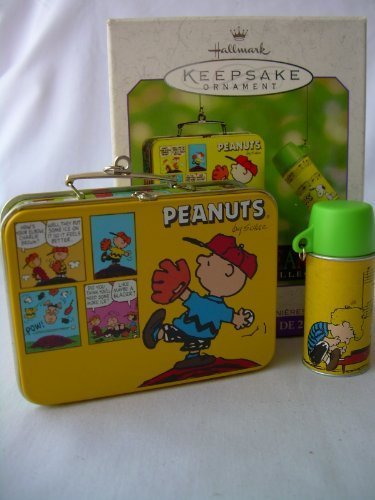 2000 Hallmark Ornament Peanuts Lunch Box Set of 2 Ornaments (Box Peanuts Lunch)
