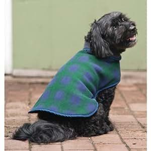 Fashion Pet Outdoor Dog Plaid Fleece Jacket, Medium, Blue