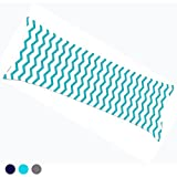 Gyulin Aqua Blue White 100% Cotton 300 Thread Count Chevron Zig Zag Stripes Body Pillow Cover Pillowcase Pillow Protector Cushion Cover with Zipper Only Cover No Insert for Your 20x54 or 21x54 Body