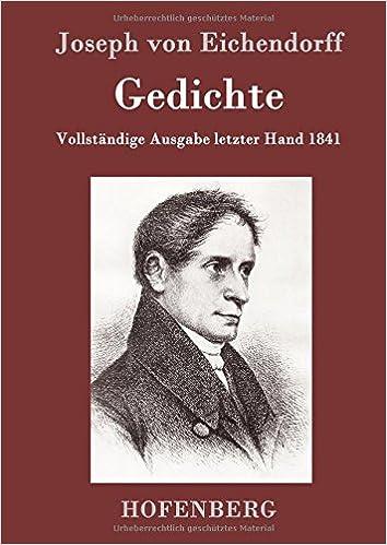 Gedichte German Edition Joseph Von Eichendorff