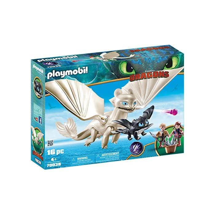 51PjHJAtQtL Diversión para pequeños aventureros: DreamWorks Dragons Furia Diurna y bebé Dragón con niños, Juego de PLAYMOBIL con figuras y otros accesorios para jugar Furia Diurna con función de tiro para flechas, Niños vikingos con mano de agarre para accesorios PLAYMOBIL, entre otros, adecuado para set de juego Hipo y Desdentao con bebé Dragón PLAYMOBIL (70037) Juego de figuras para niños a partir de 4 años: óptimo para el tamaño de sus manos y bordes redondeados agradables al tacto
