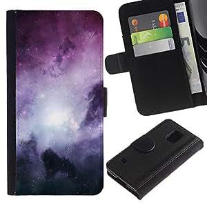 A-type ( Galassia Stelle 62) Colorida Impresión Funda Cuero Monedero Caja Bolsa Cubierta Caja Piel Card Slots Para Samsung Galaxy S5 V SM-G900