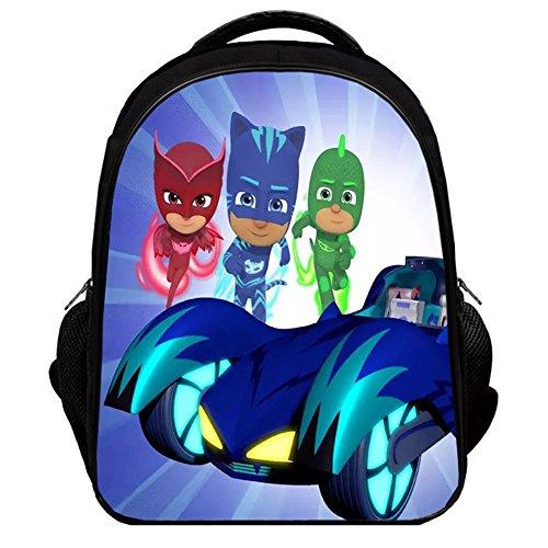 (YOURNELO Boy's Color Printed PJ Masks Rucksack School Backpack Bookbag (Color 5, L))