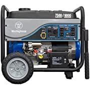 Westinghouse WH7500E Gas Powered Portable Generator with Electric Start - 7500 Running Watts and 9000 Starting...