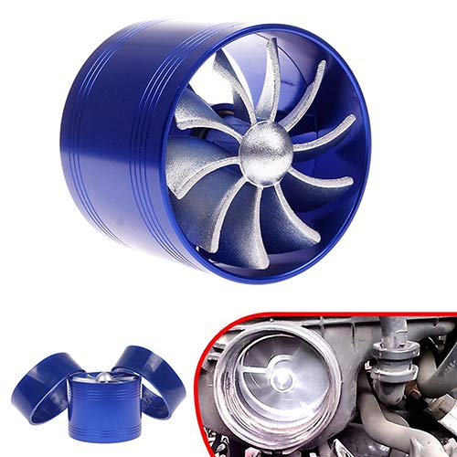 nieliangw0q Car F1-Z Single Fan Air Intake Supercharger Fuel Gas Saver Turbo Turbine Fan: