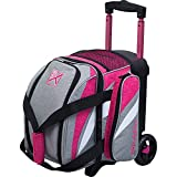 KR Strikeforce Bowling Cruiser Single Bowling Ball Roller Bag (Stone/Pink)