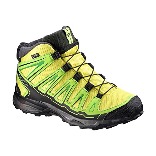 Salomon X Ultra Mid GTX Junior Corona de Yellow/granny green/black
