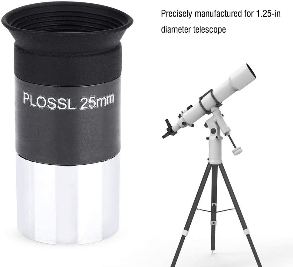 1.25inch Telescope Eyepiece 1.25 Plossl 25mm Fully Multi-Coated Eyepiece for Astronomy Telescope Accessories