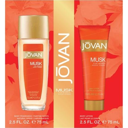 Jovan Musk for Women Gift Set 2.5 Oz Cologne Spray + 2.5 Oz Body Lotion by Dr. Leonard's