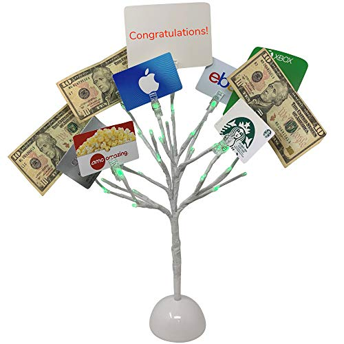 Graduation Money Tree (Mein Schatz Money Tree Gift Card Holder with 10 Clips and LED Lighted)
