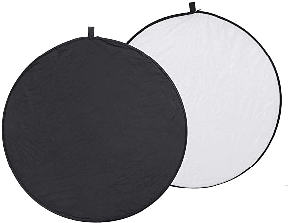 Color : As shown , Size : 80cm Lighting Reflector 32Inch//80cm Multi Camera Reflector 2 In 1 Portable Round Lighting Diffuser Kit And Carrying Case For Photpgraphy 32 Round Gold Photography