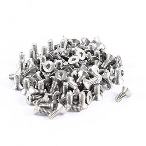 100pcs 304HC Edelstahl Hex Countersunk Flach Schrauben Schrauben M2x5mm, Modell: a14051300ux0125, Tools & Baumarkt