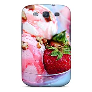 Galaxy S3 Case Cover Strawberry Ice Cream Case - Eco-friendly Packaging