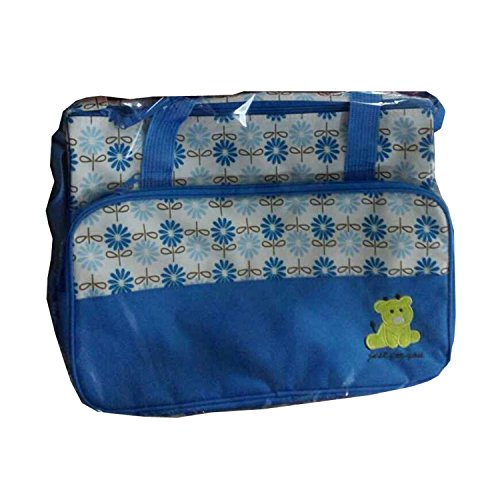 BigForest 5pcs/set Multifunction Large Capacity Baby Diaper Bag Nappy Changing Pad Travel Mummy Bag Tote Handbag Set Sky Blue