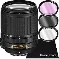 Nikon AF-S DX NIKKOR 18-140mm f/3.5-5.6G ED VR Lens Bundle for Nikon DSLR Cameras (White Box)