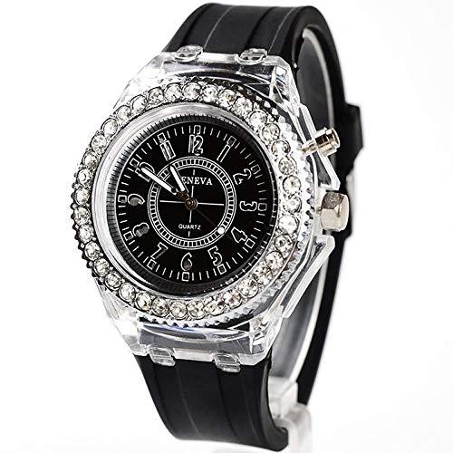 LUCA Men Women Lovers LED Backlight Sport Waterproof Quartz Personality Wrist Watches