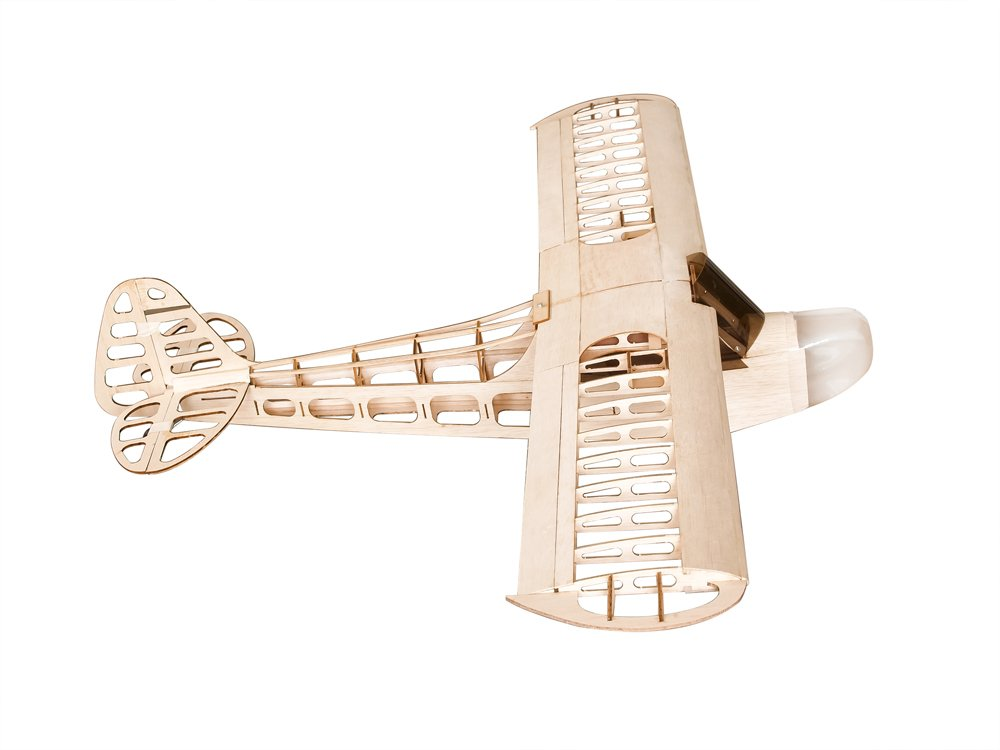 Aeroplano RC Aeroplano in legno balsa apertura alare 1180 mm J3 Kit copertura S0804B Power System