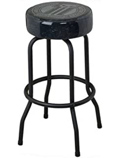 Harley Davidson Black #1 Logo Swivel Bar Stool