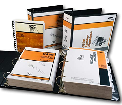 (Case 580E 580Se 580 Super E Loader Backhoe Service Parts Operators Manual Book)