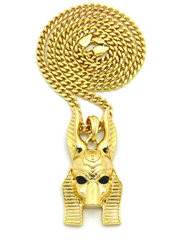 Make Anubis Costume (Crown Egyptian God Anubis Pendant with 24