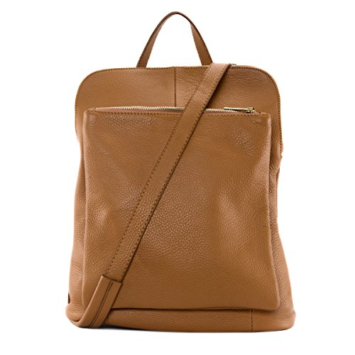 grainé CUIR cuir Sac DESTOCK à sac nouvelle Camel main en femme collection dos à rrvqwT