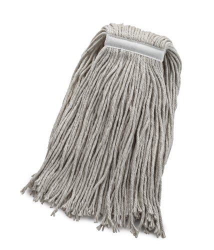 Bristles 32oz Wet Cut End Mop Head Replacement, 1 Inch Narrow Headband, 4 Ply Cotton, Full Weight, Pack of 12 (32 oz, White) by Bristles