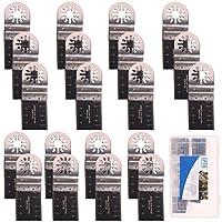 SPTA Bi-Metal Oscillating Saw Blade With Plastic Box For Fein Multimaster,Dremel,Bosch,Makita,Dewalt and More-Pack of 20Pcs