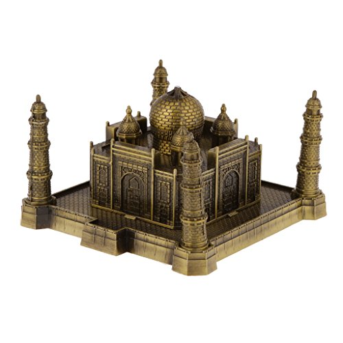 Jili Online Bronze World Famous Building Architecture Model Statue Landmark Home Decor - Bronze, Taj Mahal