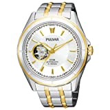 Pulsar Men's PS2004 21 Jewel Mechanical Self-Winding Battery-Free Automatic Two-Tone Bracelet Two-Tone Case Silver-Tone Dial Watch, Watch Central