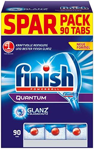 Finish Calgonit Quantum mit Glanz- & Glasschutz, Spülmaschinentabs, Sparpack, 90 Tabs