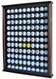 110 Golf Ball Display Case Wall Cabinet Holder Shadow Box, Solid Wood (Cherry Finish)