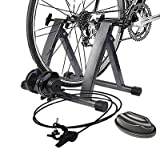GHP 220Lbs Capacity 5-Level Resistance Steel Frame Magnetic Bicycle Trainer Stand