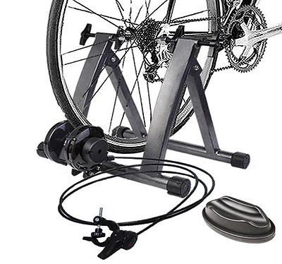 GHP 220Lbs Capacity 5-Level Resistance Steel Frame Magnetic Bicycle Trainer Stand by Globe House Products