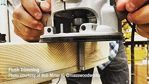 Amana Tool 47102 Carbide Tipped Flush Trim 3//8 Dia x 1//2 x 1//4 Shank