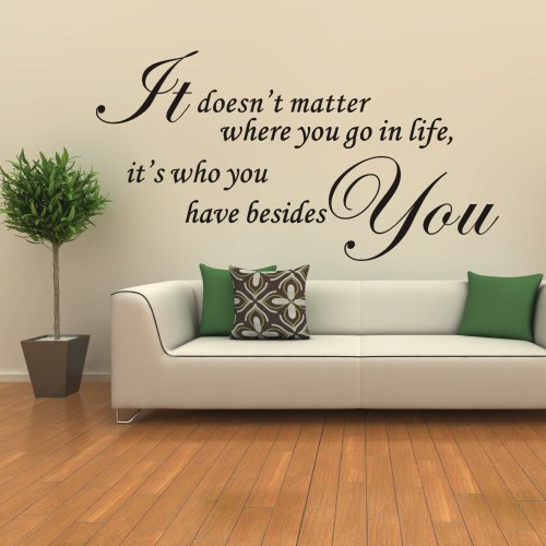 IT DOESN/'T MATTER WHERE YOU GO BESIDE YOU Lounge//Room//Wall Art Sticker Medium