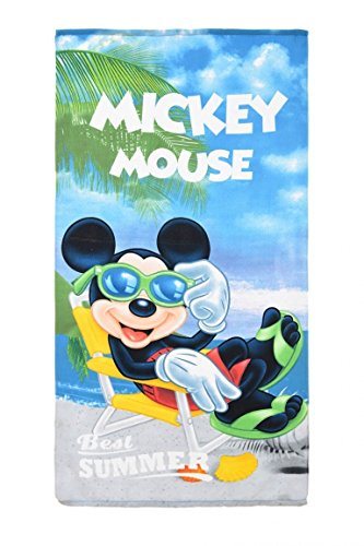 Disney Mickey Mouse Kids Beach Towel Microfiber Water Absorbent 100% Polyester 70 X 140 cm (Green) by Disney (Image #1)