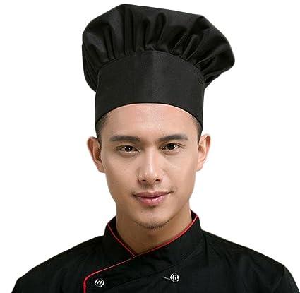 Daorier Bonnet Cuisinier Deguisement Partie Boulanger Cuire BBQ Cuisine Toque de Cuisinier Blanc 1 Pcs (
