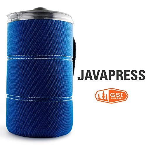 GSI Outdoors - 30 Fl Oz JavaPress, Blue, Superior Backcountry Cookware Since 1985