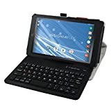 "Insignia NS-P08A7100 Bluetooth Keyboard Case,Mama Mouth Slim Stand PU Leather Case Cover With Romovable Bluetooth Keyboard For 8"" Insignia Flex NS-P08A7100 Andriod 6.0 Tablet 2016,Black"