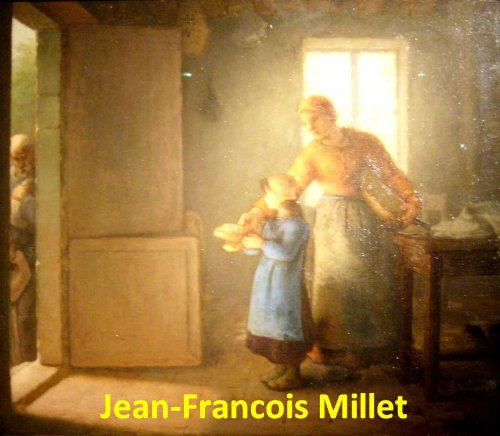 94 Color Paintings of Jean-Francois (François) Millet - French Barbizon School Painter (October 4, 1814 - January 20, 1875)