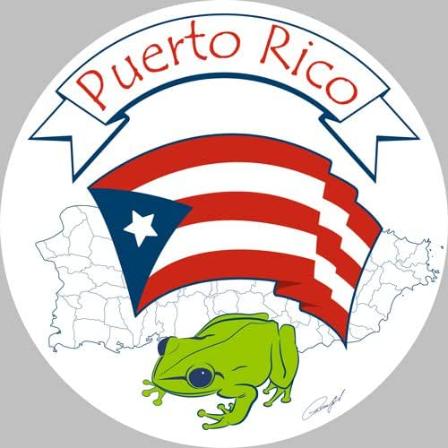 Amazon Com Puerto Rican Flag And National Symbol Of Coqui