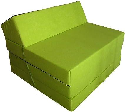 Natalia Spzoo Colchón Plegable Cama de Invitados colchón de Espuma 200x70 cm FM (Verde Claro)