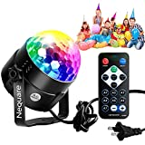 Nequare New Disco Ball Strobe Lights Party Lights Disco Lights Karaoke Machine 3W Dj Light LED Portable 7Colors Sound Activated Stage Lights for Festival Bar Club Party Outdoor and More (with Remote)